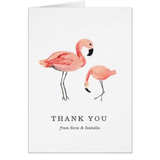 Flamingo danken Ihnen zu kardieren Mitteilungskarte