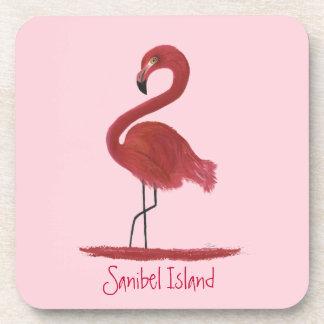 Flamingo-Grafik - Sanibel Insel Florida Untersetzer