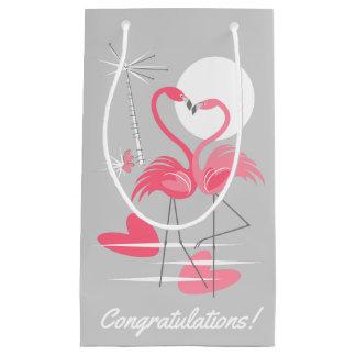 Flamingo-Liebe-Glückwünsche! Geschenktasche klein Kleine Geschenktüte