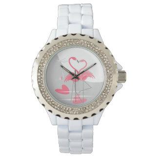 Flamingo-Liebe-große Monduhr Uhr