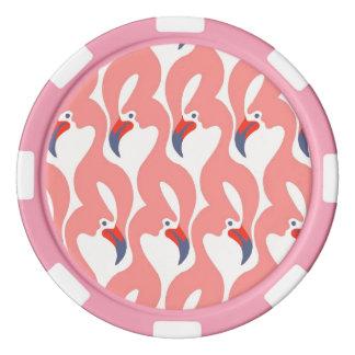 Flamingo-Pokerchips Poker Chips Set