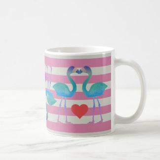 Flamingo-Retro Kaffee-Tasse (Rosa) küssen Tasse