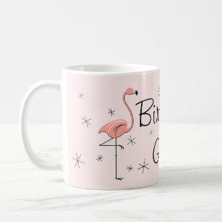 """Flamingo-rosa """"Geburtstags-Mädchen!"""" Tasse"""
