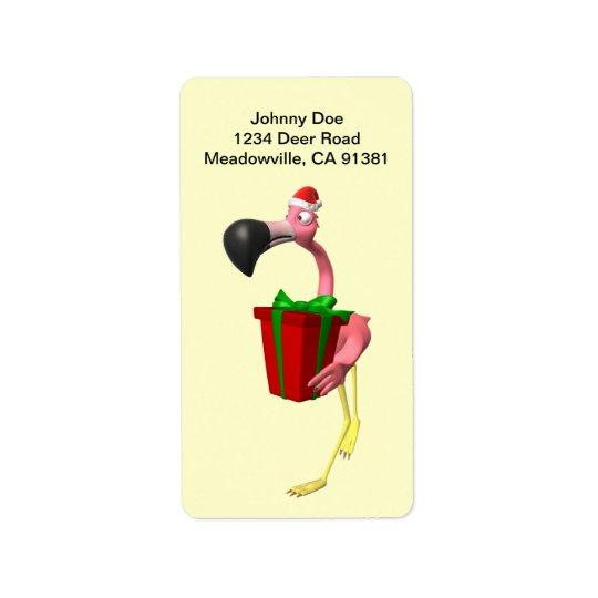Flamingo-Sankt-WeihnachtenAvery Aufkleber Adressetikett