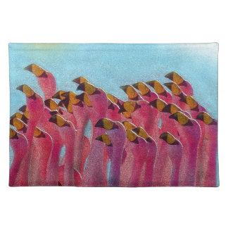 Flamingo Stofftischset
