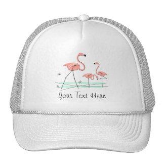 "Flamingo-Trio 2"" Text"" Gruppen-Fernlastfahrerhut Baseballcap"