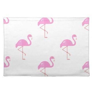 Flamingo-Vogel Stofftischset