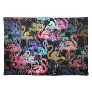Flamingomuster Stofftischset