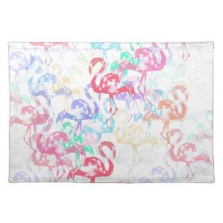 Flamingomuster Tischset