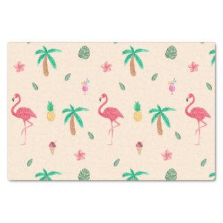 Flamingos im Sommer Seidenpapier