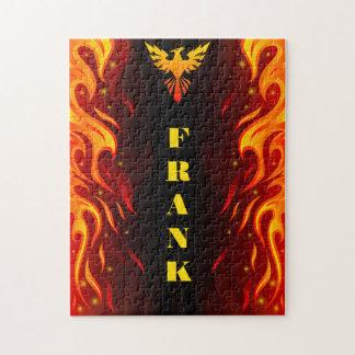 Flammen des Phoenix 11x14 Puzzle