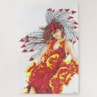 Flammen-Feuer-Elf-Element-Puzzlespiel Puzzle