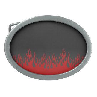 Flammen-Gürtelschnalle Ovale Gürtelschnallen