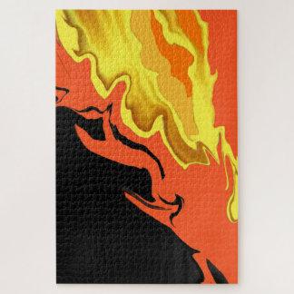 Flammen nachts puzzle
