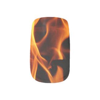 Flammen Nageldekor