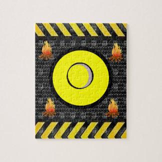 Flammen-Puzzle Puzzle