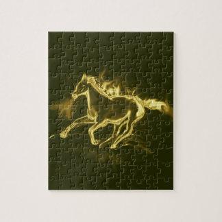 Flammenpferd, golden puzzle