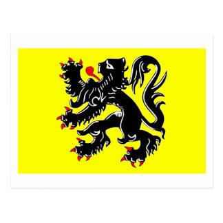 Flandern-Regions-Flagge Postkarte