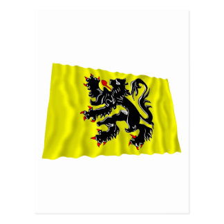 Flandern-Regions-wellenartig bewegende Flagge Postkarte