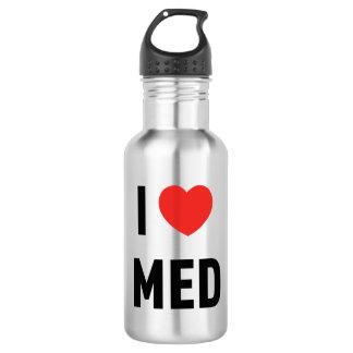 Flasche I Love Med Trinkflasche