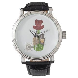 Flaschen-Cowboy-Uhr Armbanduhr