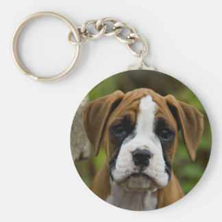Flashy Kitz-Boxer-Welpen-HundeFoto Keychain Schlüsselanhänger