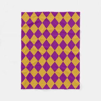 Fleece-Decke: Goldruten- u. lila Diamanten Fleecedecke