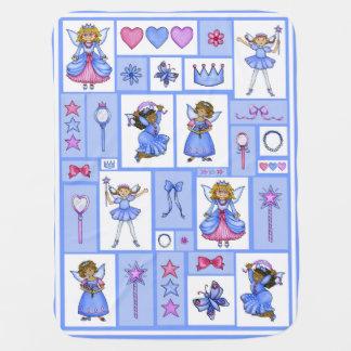 Fleece-Decke Prinzessin-Pals (blaue Sammlung) Baby-Decken