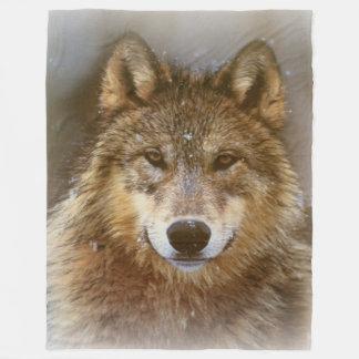 Fleece-Decke/Wolf Fleecedecke