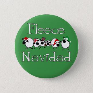 Fleece Navidad lustiger Weihnachtsknopf Runder Button 5,7 Cm