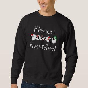 Fleece Navidad lustiges Weihnachtskleid Sweatshirt