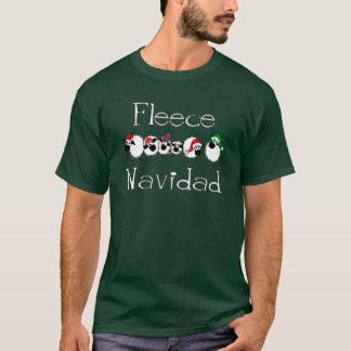 Fleece Navidad lustiges Weihnachtskleid T-Shirt
