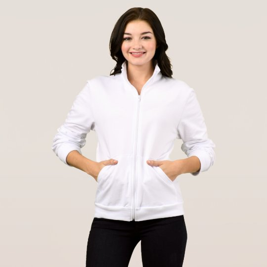 American Apparel California Fleece Reißverschluss-Jacke für Frauen