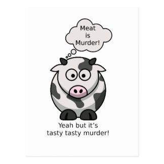 Fleisch ist Mord! Ja aber es ist geschmackvoller Postkarte