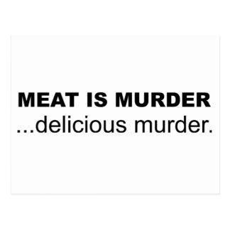 Fleisch ist Mord, köstlicher Mord Postkarte