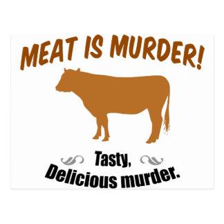 Fleisch ist Mord! Postkarte