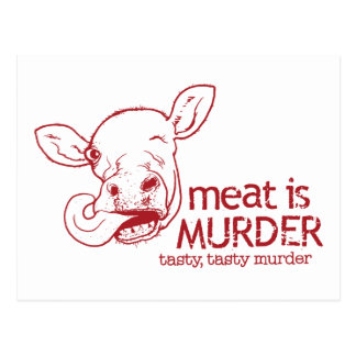 Fleisch ist Mord Postkarte