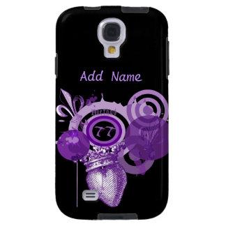 Fleur Herz-grafischer kundenspezifischer Galaxy S4 Hülle