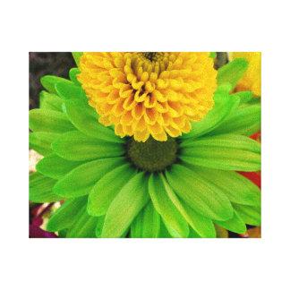 Fleur Verte Gespannter Galerie Druck