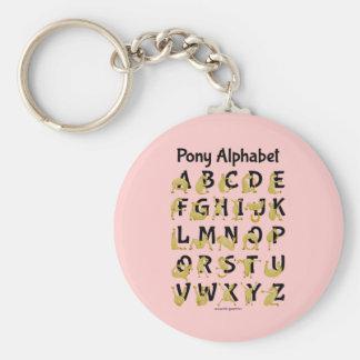 Flexibles Alphabet-Diagramm des Pony-  Schlüsselanhänger