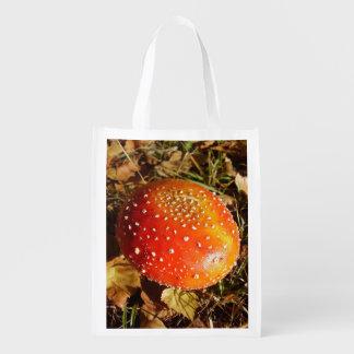 Fliegen-Blätterpilz-Pilz-wiederverwendbare Tasche Wiederverwendbare Einkaufstasche