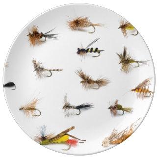 Fliegen-Fischen Flys Teller Aus Porzellan