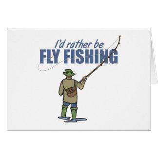 Fliegen-Fischen in den Stelzvögeln Grußkarte