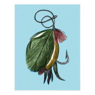 Fliegen-Fischen-Kunst Postkarte