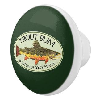 Fliegen-Fischen lustiger FORELLE-GAMMLER Keramikknauf