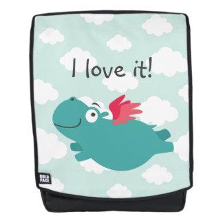 Fliegen-Flusspferd-Illustration Rucksack