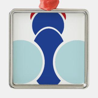 Fliegen-Grafik Silbernes Ornament