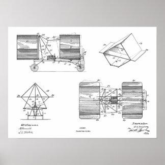 Fliegen-Maschinen-Flugzeug-Patent 1911, das Druck Poster