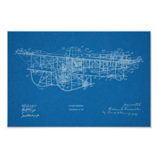 Fliegen-Maschinen-Flugzeug-Patent 1915, das Druck Poster