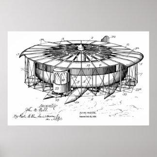 Fliegen-Maschinen-Flugzeug-Patent 1920, das Druck Poster